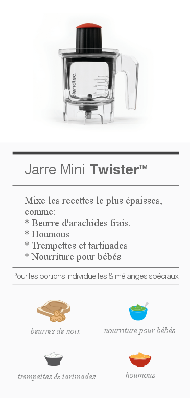 details jarre Mini Twister Blendtec