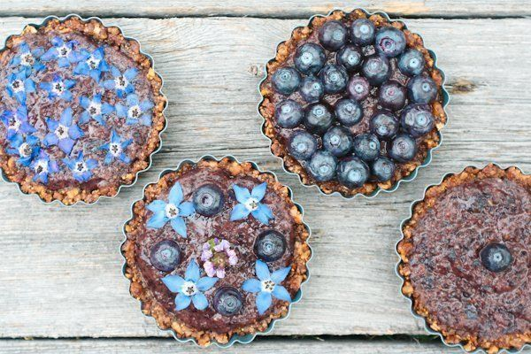 Tartelettes aux myrtilles 100% fruits (et ultra simple)!